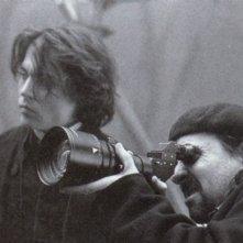 Johnny Depp e Tim Burton sul set de Il mistero di Sleepy Hollow