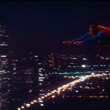 Christopher Reeve in una bella scena di SUPERMAN