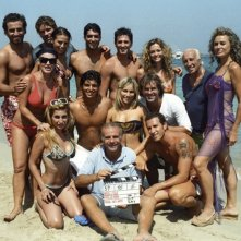 Foto di gruppo sul set di Vita Smeralda