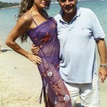 Lory Del Santo e Jerry Calà sul set di Vita Smeralda