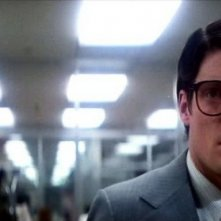 Christopher Reeve in una scena di SUPERMAN, 1978