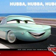 Un'immagine promozionale con Flo per Cars