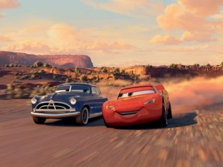 Una scena del cartoon Cars