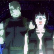 Una scena del secondo capitolo di Ghost in the Shell, L'attacco dei cyborg