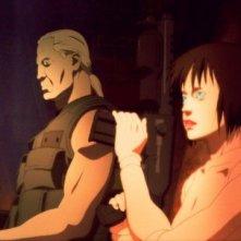 due protagonisti del film Ghost in the Shell 2 - L'attacco dei cyborg