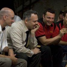 Peyton Reed, Vincent D'Onofrio, Vince Vaughn e Cole Hauser sul set del film Ti odio, ti lascio, ti...