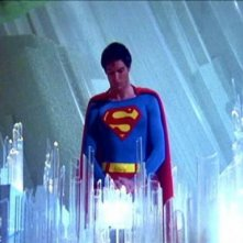 Christopher Reeve in una suggestiva scena di SUPERMAN