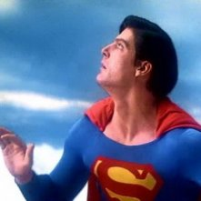 Christopher Reeve in una scena di SUPERMAN