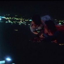 Gli attori Margot Kidder e Christopher Reeve in una scena di SUPERMAN