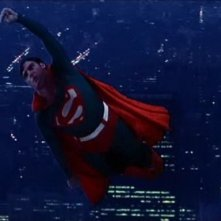 Christopher Reeve vola in una scena di SUPERMAN