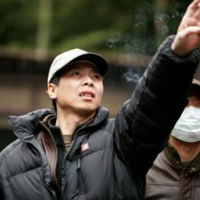 Feng Xiaogang sul set del film The Banquet