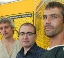 Locarno 2006 -  Marc Recha, regista e attore, Xavier Atance, produttore e David Recha attore del film DIES D´AGOST
