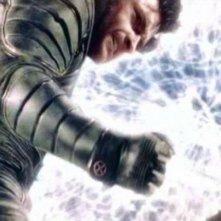 Hugh Jackman in una sequenza di X-MEN