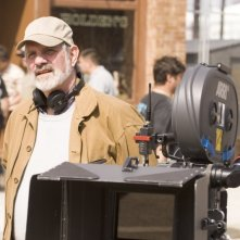 Brian De Palma sul set di The Black Dahlia