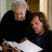 Emir Kusturica e Roberto Andò sul set del  film Viaggio segreto