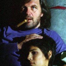 Emir Kusturica con Valeria Solarino in una scena del film Viaggio segreto