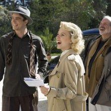 Josh Hartnett, Scarlett Johansson e Brian De Palma sul set di The Black Dahlia