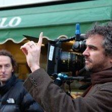 Alfonso Cuaron sul set de I figli degli uomini