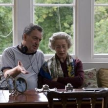 Stephen Frears ed Helen Mirren sul set di The Queen