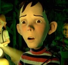 Una scena di Monster House