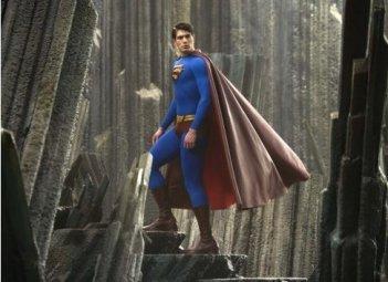 Brandon Routh in una scena del film Superman Returns
