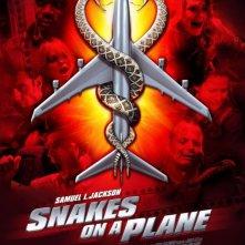 La locandina italiana di Snakes on a Plane