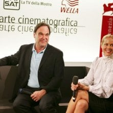 Oliver Stone e Maria Bello a Venezia 2006 per presentare World Trade Center
