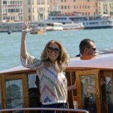 Scarlett Johansson all'arrivo al Lido