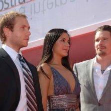 Mark Webber, Catalina Sandino Moreno e Ethan Hawke a Venezia 2006 per presentare il film The Hottest State