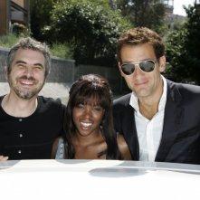Alfonso Cuaron, Claire-Hope Ashitey e Clive Owen a Venezia 2006 per presentare il film I figli degli uomini