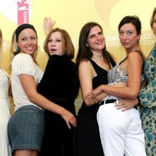 Gabriela Hegedus, Nina Proll, Birgit Minichmayr, Barbara Albert, Ursula Strauss e Kathrin Resetarits a Venezia 2006 per presentare Falling