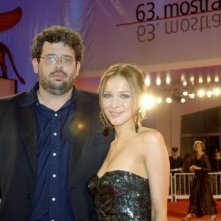 Neil LaBute e Kate Beahan a Venezia 2006 per il film The Wicker Man