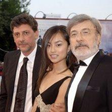 Sergio Castellitto, Tai Ling e Gianni Amelio a Venezia 2006 per presentare il film La stella che non c'è