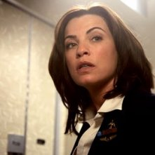 Julianna Margulies in una scena di Snakes on a Plane