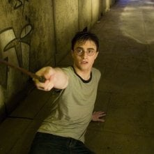 Daniel Radcliffe in una sequenza del film Harry Potter e l'Ordine della Fenice