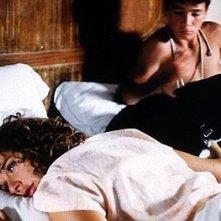 Francesco Casisa e Valeria Golino  in una scena del film Respiro