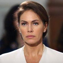 La bella Elena Sofia Ricci in una scena della fiction 'Giovanni Falcone'