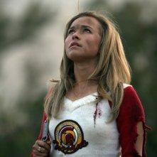Hayden Panettiere in una sequenza della serie 'Heroes'