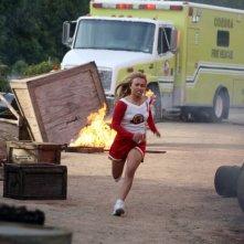 Hayden Panettiere in una scena della serie superomistica 'Heroes'