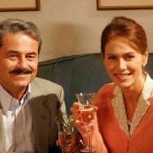 Massimo Dapporto ed Elena Sofia Ricci in una scena della fiction 'Giovanni Falcone'