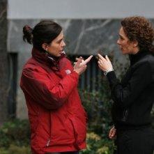 Francesca Comencini e Valeria Golino sul set del film A casa nostra