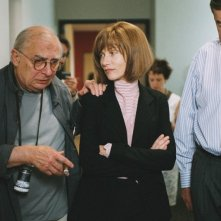 Isabelle Huppert e Claude Chabrol sul set de La commedia del potere