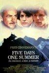 La locandina di Cinque giorni un'estate
