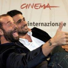 Eugenio Cappuccio e Fabio Volo a Roma per presentare il film Uno su due