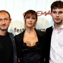 Monica Bellucci, Guillaume Nicloux e Balducci a Roma per presentare 'The Stone Council'