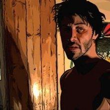 Keanu Reeves in versione cartoon in una scena del film A scanner darkly