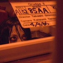 Takako Fuji sul set del film The Grudge 2