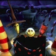 Jack Skeleton in una scena del film Nightmare Before Christmas