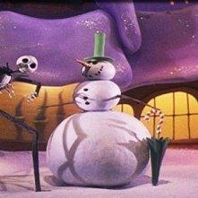 Una scena del film d'animazione Nightmare Before Christmas
