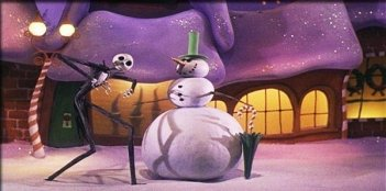 Una scena del film d'animazione Nightmare Before Christmas